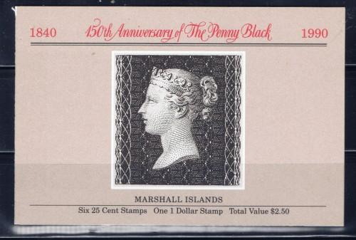 Marshall Is 376a NH 1990 Anniv of the Penny Black Booklet