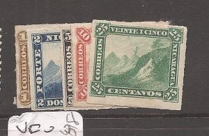 Nicaragua 1870 Mountain SC 8-12 MNG (3asm)
