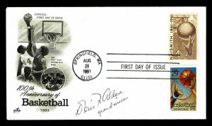 US #2560 Basketball 100th Anniversary FDC Signed by Grandniece (ESP#012)