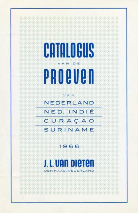 Book - Netherlands & Col. Proofs, Van Dieten, 199 pages