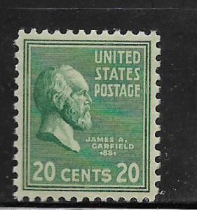 UNITED STATES, 825, MNH,JAMES A. GARFIELD
