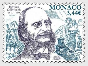 H01 Monaco 2019  Bicentenary of the Birth of Jacques Offenbach MNH Postfrisch