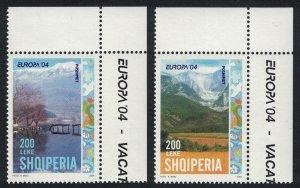 Albania Europa CEPT Holidays 2v Corners 2004 MNH SG#2992-2993 MI#2966-2967 KB