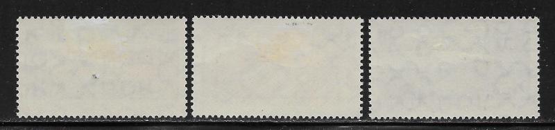 GERMANY - DDR SC# 549-51  FVF/MOG 1961