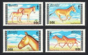 Mongolia Asiatic Wild Ass 4v SG#1967-1970