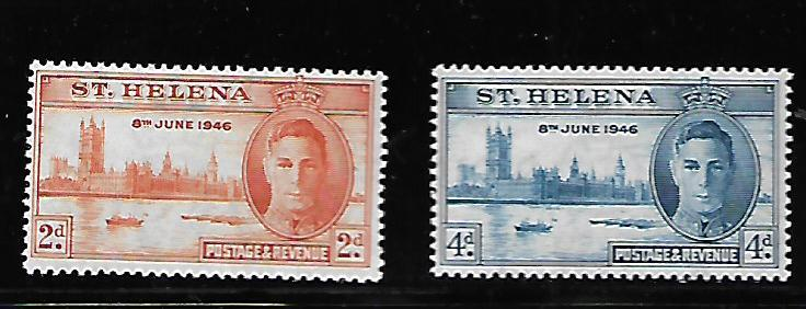 ST HELENA 128-129 MINT HING C/SET 1953 ISSUE