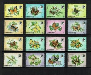 Lesotho: 1984 Butterflies, definitive set, MNH