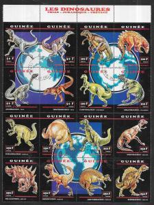 Guinea #1238   Dinosaures S /S (MNH) CV $25.00