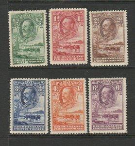 Bechuanaland 1932 GV short set to 6d MM SG 99/105