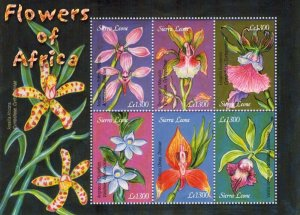 Sierra Leone MNH S/S Flowers Of Africa