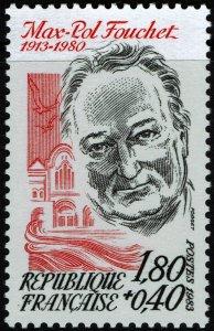France #B553  MNH - Poet Max-Pol Fouchet (1983)