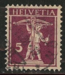 Switzerland Scott 160 used 1927 Granite Paper