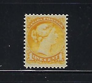 CANADA SCOTT #35 1870-89 SMALL QUEEN 1 CENT (YELLOW) MINT LIGHT HINGED