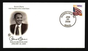 Obama 2009 Inauguration Cover / PSC Stamp Cachet / Hawaii CDS - Z14529