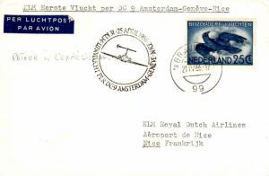 Netherlands 25c Crow in Flight 1966 'sGravenhage KLM First DC-9 Flight Amster...