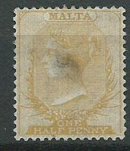 Malta SG 13 light stain on reverse shows thru - appears used