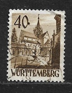 COLLECTION LOT OF # 8N35 GERMANY  WURTTEMBERG 1948 CV= $37.50