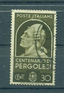 Italy sc# 390 used cat value $1.60
