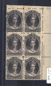Nova Scotia, 13, Queen Victoria Block (6), **MNH/Hinged**