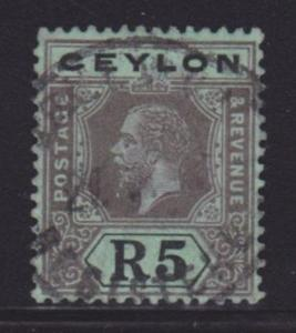 Ceylon 212 VF used neat cancel with nice color scv $ 35 ! see pic !