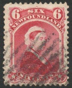 NEWFOUNDLAND-1894 6c Crimson-Lake Sg 60 AVERAGE USED V46302