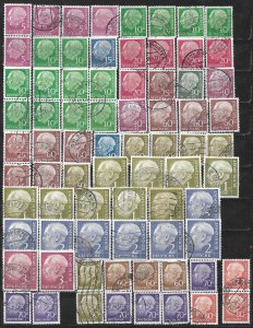 COLLECTION LOT OF 75 GERMANY HEUSS 1954+ STAMPS CLEARANCE