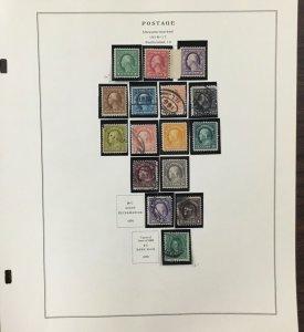 US  Washington-Franklin no watermark from 1916-1921   Cv $2,500+    AB