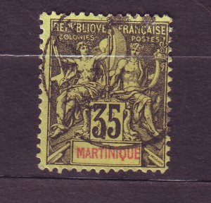 J23803 JLstamps 1892-1906 french martinique used #46 design