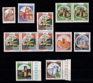 Italy 1980 Castles various denominations [Mint]