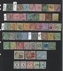 MAURITIUS 50+ STAMPS FROM SCOTT #22 TO POSTAGE DUES-  ALL USED