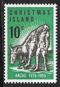 Christmas Island  # 21   ANZAC Anniversary    (1) Mint NH
