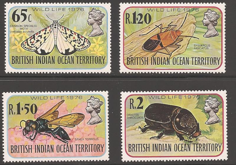British Indian Ocean Territory 86-89 Mint VF NH