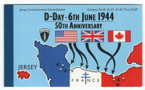 Jersey 1994 D-Day prestige booklet tiny corner crease