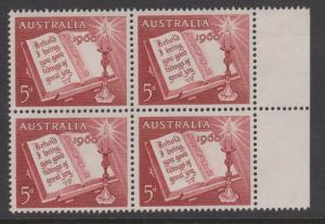 Australia 1960 Christmas Sc#339 Block of 4 Mint Hinged on 2 stamps
