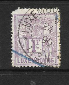 LUXEMBOURG  1882   1f   ARMS  FU    Sc 58