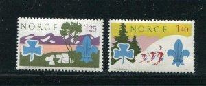 Norway #656-7 MNH
