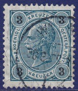 Austria - 1890 - Scott #53 - used - Franz Josef - perf 13 x 12 1/2