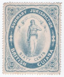 (I.B) British Guiana Revenue : Summary Jurisdiction 60c (1883)