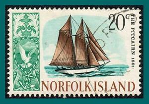 Norfolk Island 1968 Ships (series 3), 20c used  #109,SG86