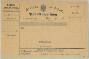 89297 - GERMANY  - Postal History - STATIONERY Formular CARD Money  Order