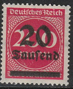 Stamp Germany Reich Mi 282 Sc 246 1923 Inflation Number Circle Overprint MNG