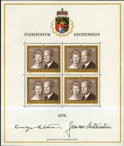 LIECHTENSTEIN 557a SHEET OF 4 MNH SCV $35.00 BIN $18.50 ROYALTY