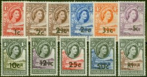 Bechuanaland 1961 set of 11 SG157-167b V.F Very Lightly Mtd Mint