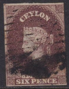 Ceylon 1857-1859 SC 6A Used