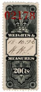 (I.B) Canada Revenue : Weights & Measures 20c