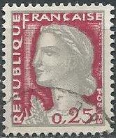 France 968 (used) 25c Marianne