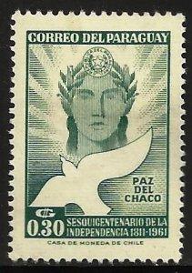 Paraguay 1961 Scott# 590 MH