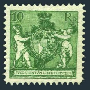 Liechtenstein 59a perf 12 1/2,hinged.Michel 50B. Coat of Arms.1921.