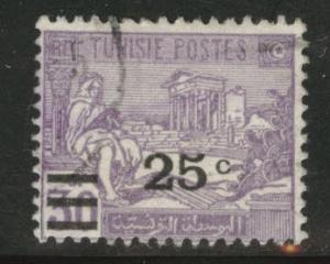 Tunis Tunisia Scott 118 used 1928 surcharged stamp