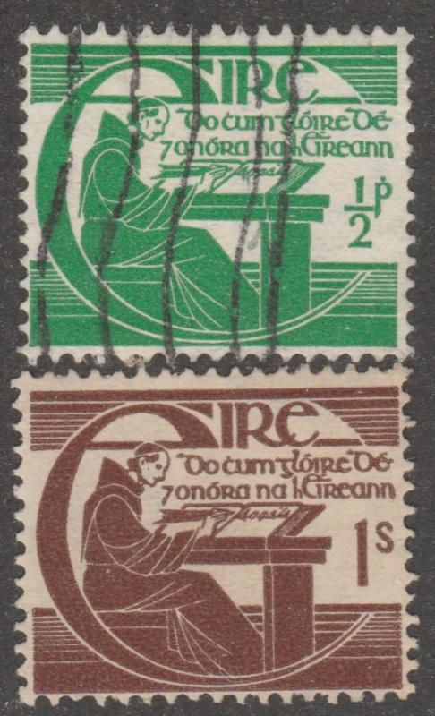 Ireland stamp,scott# 128-129, used pair, Michael O'Cleary, historian